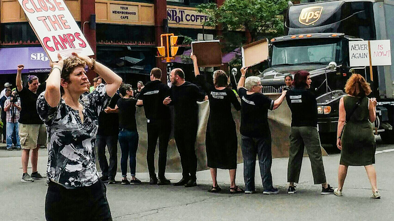 Nine Arrested in Buffalo Peacefully Protesting American Concentration Camps