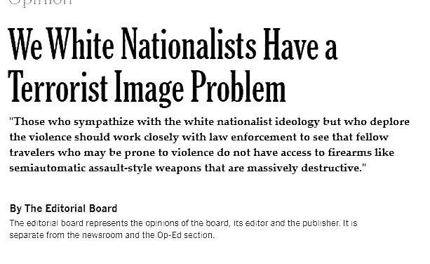 Satire: The New York Times' White Nationalist Terrorism Problem