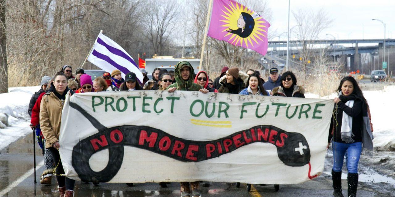 Kahnawake Moves Wet'suwet'en Solidarity Fire, Lifts Rail Blockade